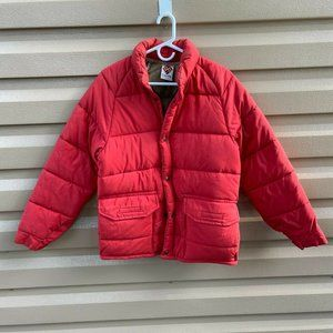 Vintage 70's 80's Columbia Red Puffer Jacket XS